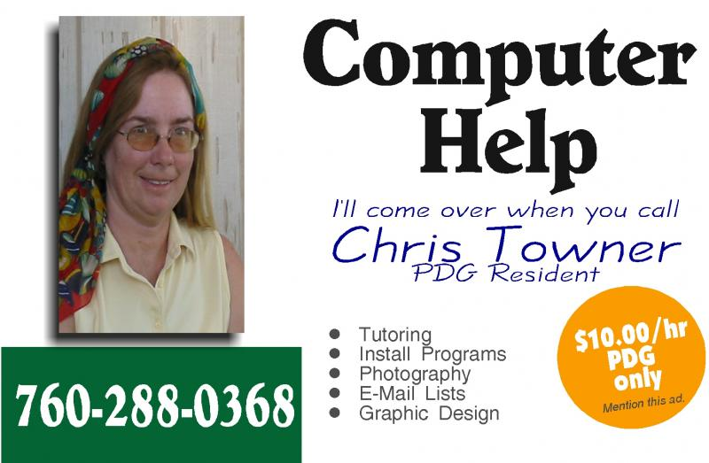 Call Chris for Computer Help